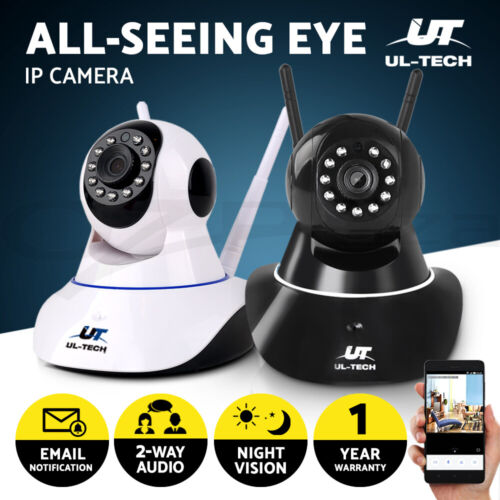 UL-TECH 1080P Wireless IP Camera CCTV Security System Monitor Night Vision <br/> 20% off with code PLAZA. Ends 30 May. T&amp;Cs apply