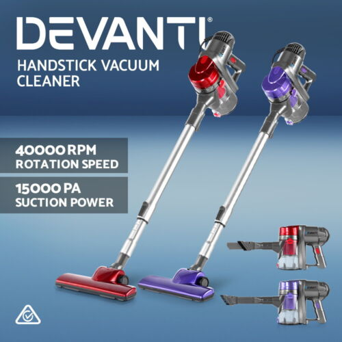 Devanti Corded Stick Vacuum Cleaner Handheld Handstick Vac Bagless Upright Light <br/> EXTRA 10% OFF Auto-applied in Checkout - Limited Time!