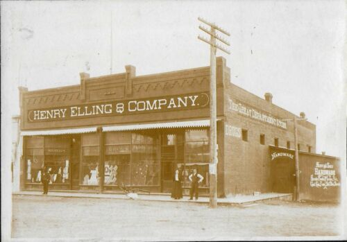 Cabinet Photo of Henry Elling & Co Mercantile Business, Sheridan Montana
