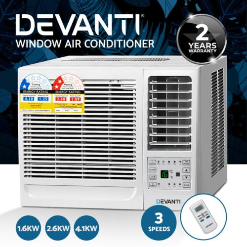 Devanti 1.6kW/2.6kW/4.1kW Window Wall Box Refrigerated Air Conditioner Cooler <br/> 20% off with code POTPLANT. Ends 29/10. T&amp;Cs apply.