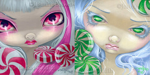 Faces of Faery 44 & 85 Jasmine Becket-Griffith Art SIGNED Pair of 6x6 PRINTS