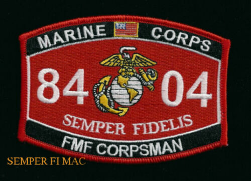 USMC CORPSMAN HAT PATCH US MARINES NAVY VETERAN FMF PIN UP DOC COIN HOSPITAL WOWMarine Corps - 66531
