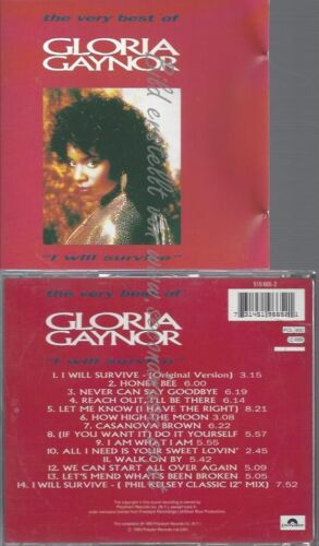 CD--GLORIA GAYNOR -- -- I WILL SURVIVE-THE VERY BEST OF