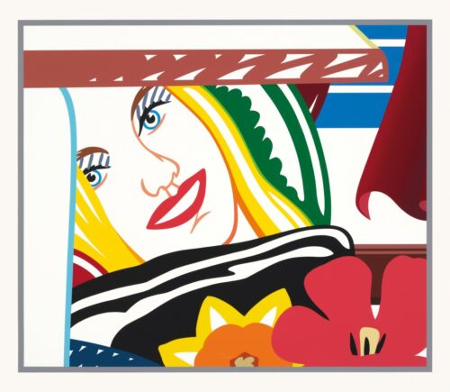 TOM WESSELMANN &quot;BEDROOM FACE #41&quot; 1990 | SIGNED SCREENPRINT | 59X68&quot; | GALLART <br/> GALLART  - WE BUY &amp; SELL TOM WESSELMANN ARTWORK