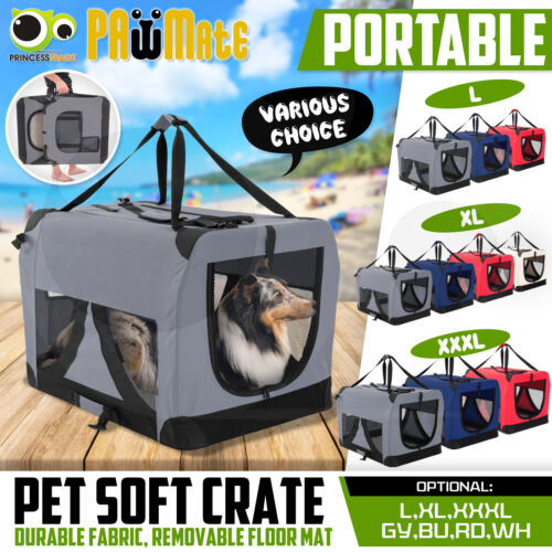 Pet Soft Crate Portable Dog Cat Carrier Travel Cage Kennel Folding Large/XL/XXXL <br/> 3% off with code PLACE when spend $30.