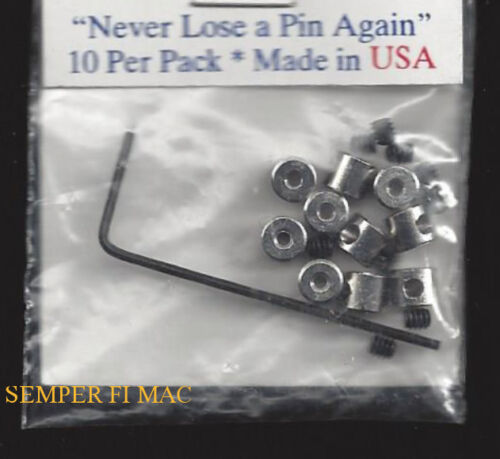 10 LOCKING CROME METAL CLUTCH PIN BACKS WITH KEY TIE TAC USAF PIN UP MADE IN USAir Force - 66528