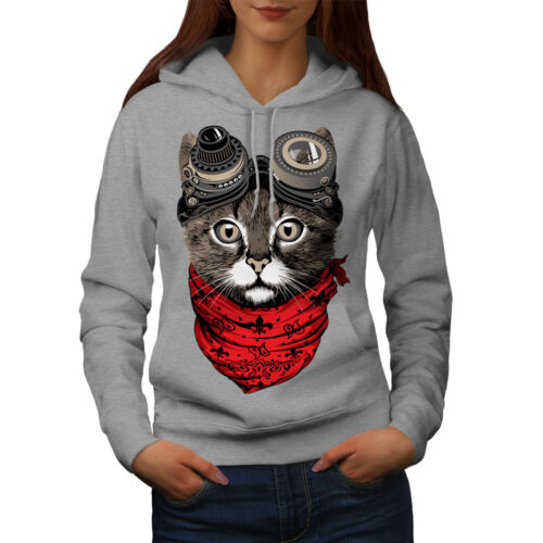 Aviator Fashion Cool Cat Women Hoodie NEW | Wellcoda