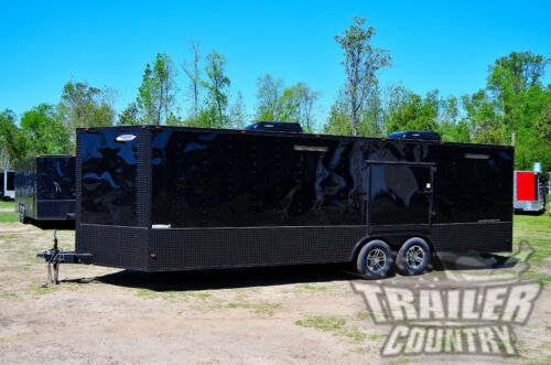 NEW 2019 8.5 X 24 Enclosed Cargo Race / Car Hauler Trailer Stage 2 Blackout PKG <br/> FINISHED INTERIOR ~ ELECTRICAL ~ RACE READY PKG ~ A/C&#039;S