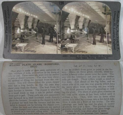 1900's~Keystone~Making Plate Glass at Rossford, OH