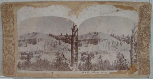 1890's~Bluff's Tower Falls Yellowstone Park