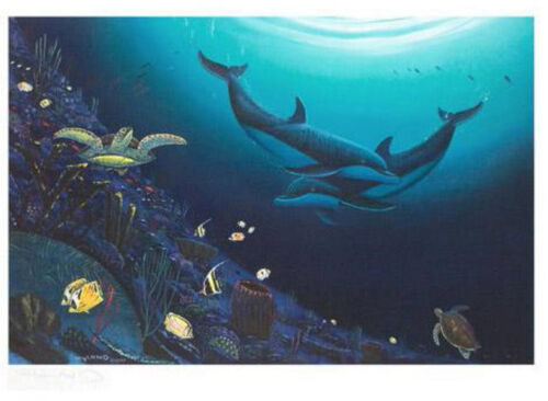 """WYLAND """"OCEAN REEF LIFE"""" NEW S/N LITHOGRAPH WITH COA"""