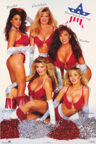 POSTER : STARTING LINEUP - 5 SEXY FEMALE MODELS - FREE SHIPPING !  #2173   RC3 Q