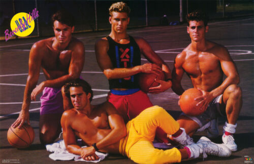 POSTER- BEVERLY HILLS BASKETBALL - 4 SEXY MALE MODELS-FREE SHIP   #3333 LC31 G