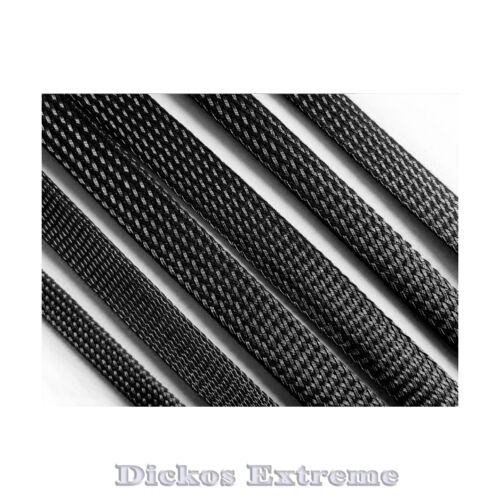 2 Meters x 1.5mm PET Expandable Braided Cable Sleeving BLACK-- SOLD PER 2 METERS