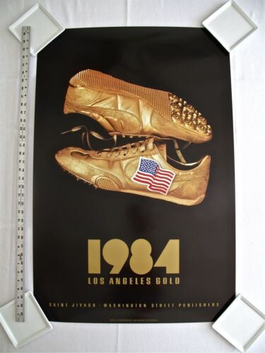1984 LOS ANGELES OLYMPICS POSTERS DESIGNED & SIGNED BY ARTIST SAINT JIVAGO