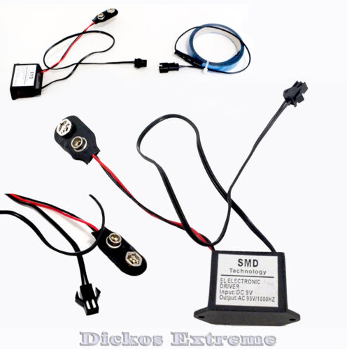 9V Battery Inverter for EL Tape / Wire - Tiny & Water Resistant - Case Modding
