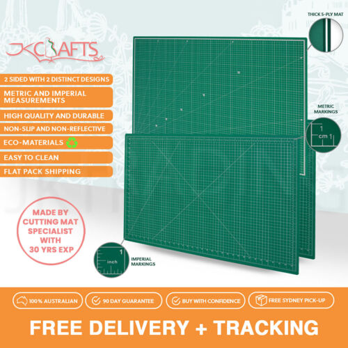 A1 Self Healing Cutting Mat 5-Ply w IMPROVED Hard PVC Ply Double-Side Art Craft <br/> Improved PVC Ply |Beware lookalike |YagoonaSydney Fast
