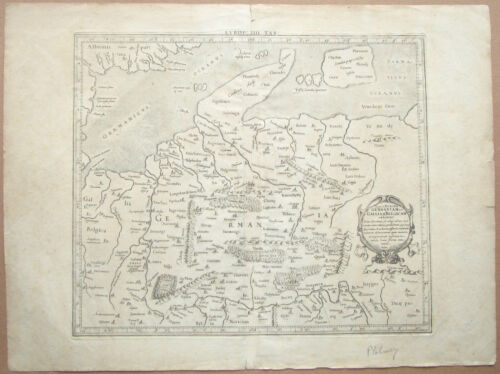 Antique Map GERMANY BELGIUM Germaniam Et GalliamBelgicam GERHARD MERCATOR C1690