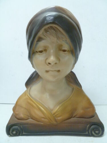 ANTIQUE MAIDEN PLASTER BUST MADE IN FRANCE ...