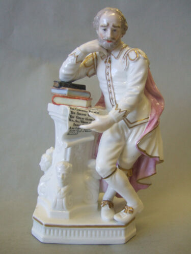 Antique Derby frigure of  Shakespeare, english porcelain, 18thc