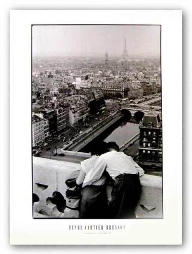 View From The Towers Of Notre Dame 1955 by Henri Cartier-Bresson Art Print 23x31