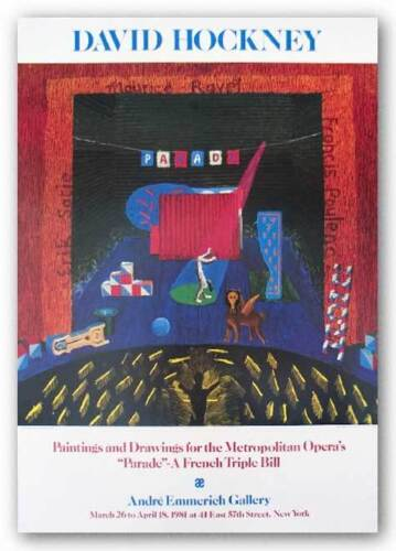 "Metropolitan Opera's ""Parade"" by David Hockney Pop Art Print"