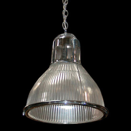 "14"" Original 1920 Holophane Light Fixture Multiples avail. Nickel or brass 6461"
