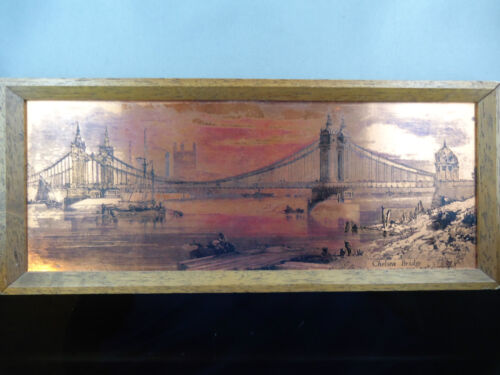 AN ETCHMASTER ORIGINAL PICTURE  BY ALRESFORD-HAMPSHIRE-ENGLAND OF CHELSEA BRIDGE