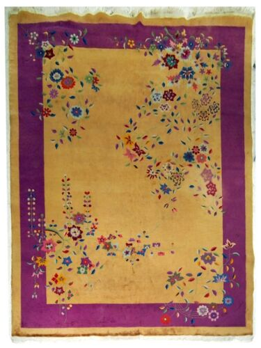 Beautiful Vintage Nichols Chinese Art Deco Rug c. 1920 #5213