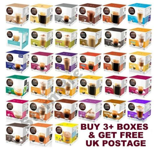 NESCAFE DOLCE GUSTO COFFEE CAPSULES PODS. BUY ANY 3 & GET FREE UK DELIVERY <br/> Widest selection on eBay. 35+ blends to choose from!