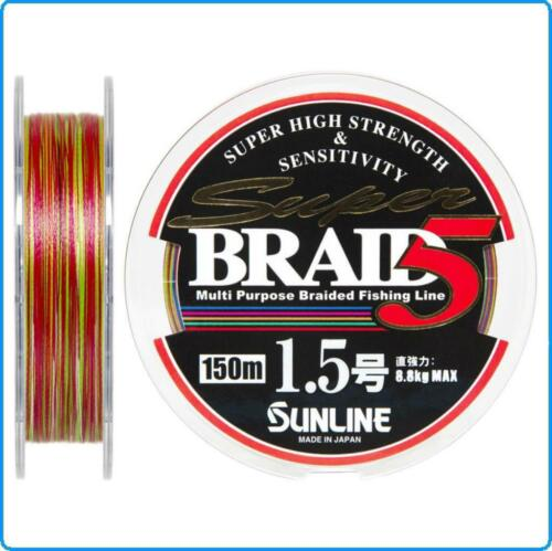 TRECCIATO SUPER BRAID SUNLINE PE0.8 0.148mm 150mt kg5.1 MULTICOLOR SPINNING MARE