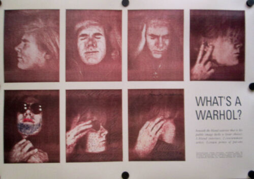 1990 Andy Warhol What's a Warhol? Poster NEW-NEVER USED EXCELLENT CONDITION