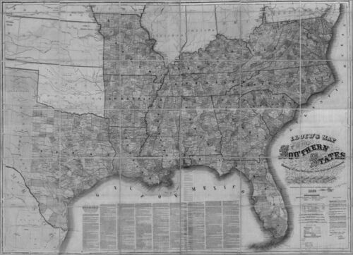 US CONFEDERATE STATES 1862 FL MAP Satellite Beach Scott Lake Sebastian Sebring