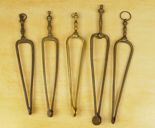 Antique Collection of 5 Dutch Brass Stove Coal-Nippers 18TH/19TH C.