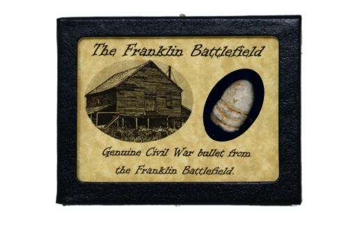 Shot Bullet Relic from The Battle of Franklin, TN with Display Case and COABullets - 103996