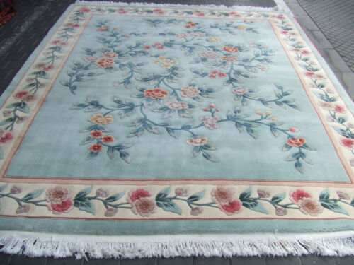 Beautiful hand-woven Chinese Antiques Carpet rug 310x240-cm / 122.0x94.4-inches