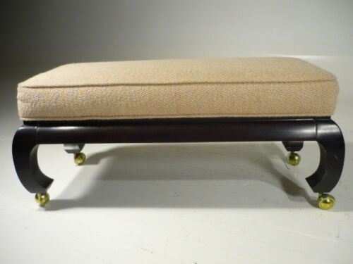 Vintage 60's Mid 20th Century Modern Asian Inspired Hickory Co Bench Rutilli Era