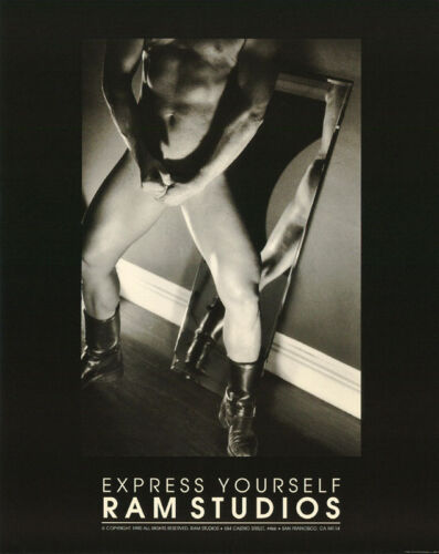 SMALL POSTER:  EXPRESS YOURSELF : SEXY MALE MODEL - FREE SHIP  RP82 I-R