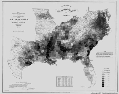SLAVE MAP 1861 WV Morgantown Moundsville Nitro Oak Hill Parkersburg Princeton XL