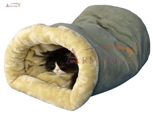 Armarkat Safe And Warm Burrow Pet, Cat Beds, Faux Suede, Faux Fur C15HHL/MH New
