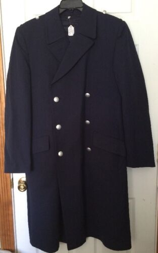 RARE VINTAGE German Navy Officer BLUE TRENCH COAT OVERHOFF W LINER 38 goth LarpOriginal Period Items - 13983