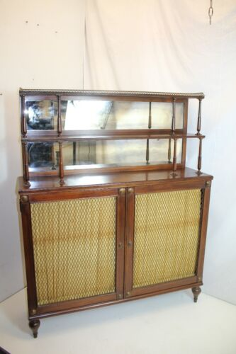 English Early  Regency Rosewood Chiffonier Server with Cabinets circa 19th