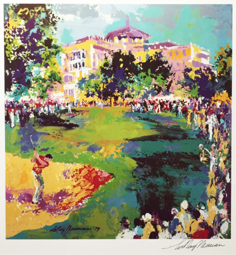 """LeRoy Neiman """"WESTCHESTER GOLF CLASSIC"""" HAND SIGNED LITHOGRAPH print art poster"""
