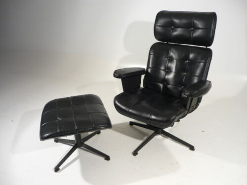 60's Mid Century Modern Homecrest Wire Lounge Arm Chair w/Ottoman Eames Style