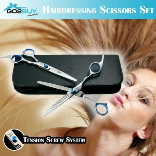 """2pcs 6"""" Pro Hair Cutting & Thinning Scissors Barber Salon Hairdressing w Case <br/> 💰💰💰Buy 3 Get $5 OFF💰💰💰Best Quality"""