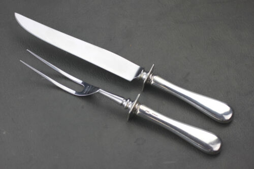 "OLD NEWBURY CRAFTERS ""OLD NEWBURY"" STERLING SILVER HANDLE CARVING SET, 2 PCS"