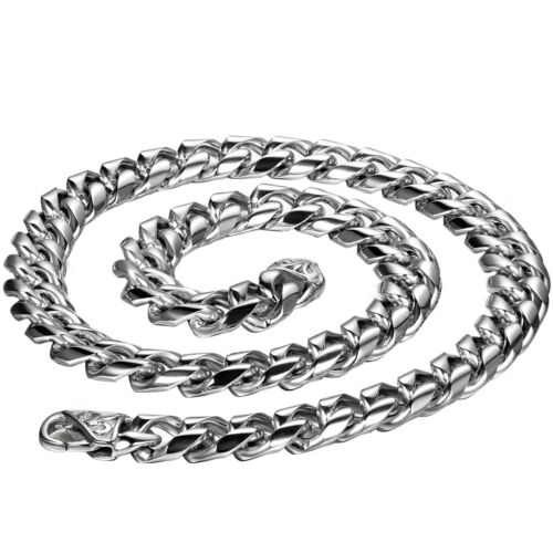 """22"""" Men's Jewelry 8mm Stainless Steel Biker Heavy Link Chain Necklace Mens Gift"""