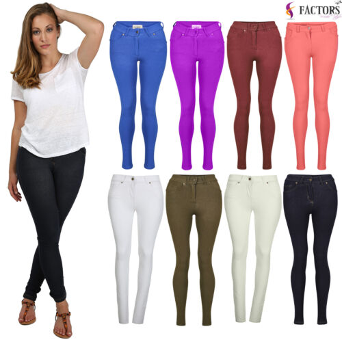 NEW LADIES SKINNY FIT COLOURED STRETCHY JEANS WOMENS JEGGINGS TROUSERS SIZE 8-20 <br/> New Colours in Stock ✂ Unbelievable Summer Prices