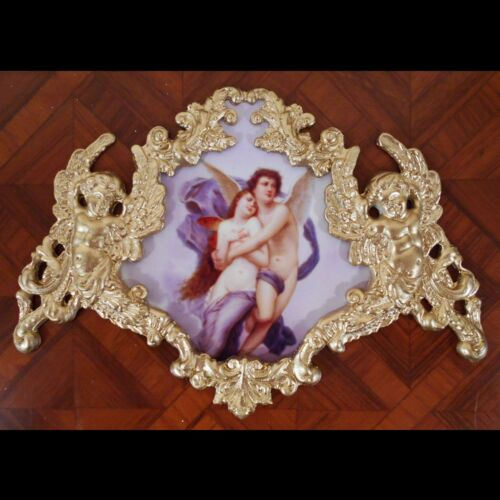 Eros and Psyche.Faux ormolu.Furniture mounts/decor.
