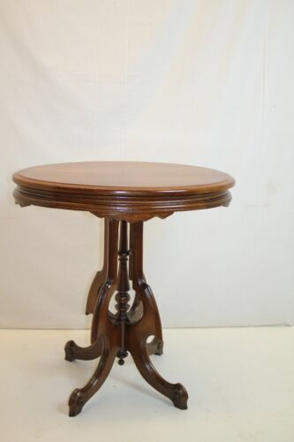 Antique Victorian Aesthetic Movement Walnut Side End Table Ready to Use c. 19th